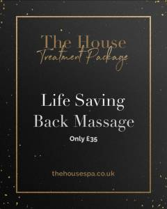 Life Saving Back Massage Spa Package